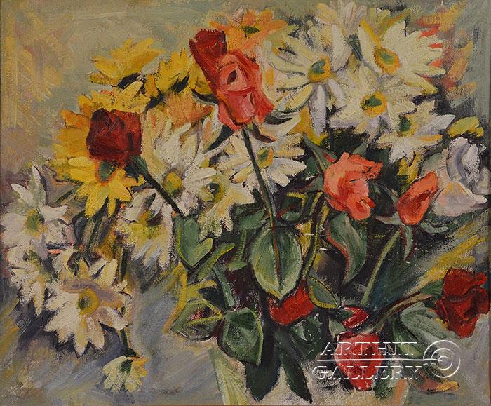 ''Цветы''.  Оганесян Асмик. Продажа картин, предметов декоративно-прикладного искусства