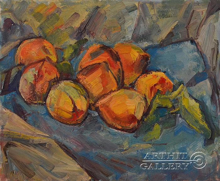 ''Персики''.  Оганесян Асмик. Продажа картин, предметов декоративно-прикладного искусства