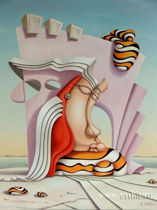 Lighthouse;   Alexander Lyamkin Original oil paintings for sale.  Surrealism.