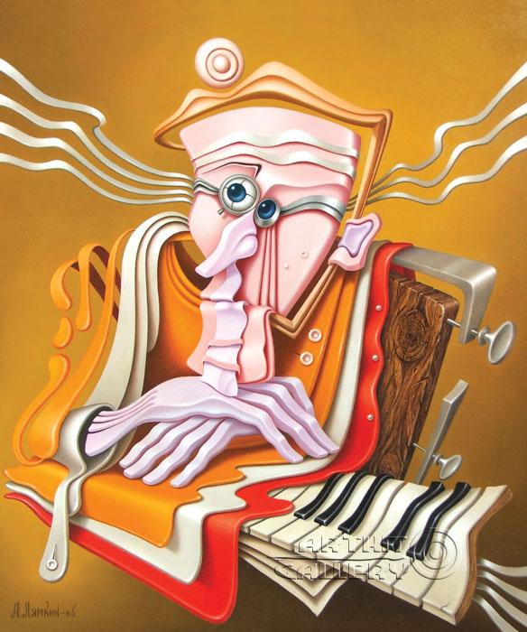 ''Пианист''.  Лямкин Александр. Продажа картин, предметов декоративно-прикладного искусства