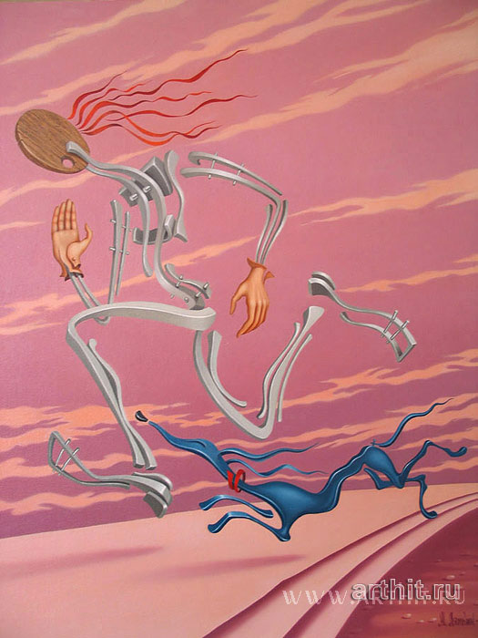 ''Бегущие бегом''.  Лямкин Александр. Продажа картин, предметов декоративно-прикладного искусства
