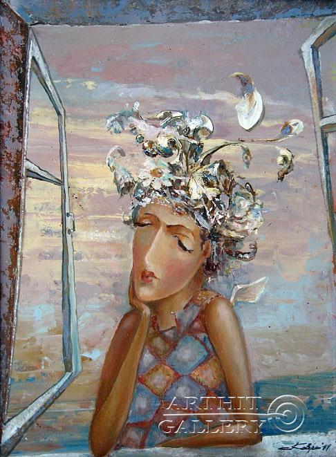 ''Прилетевший ангел''.  Ковриго Сергей. Продажа картин, предметов декоративно-прикладного искусства
