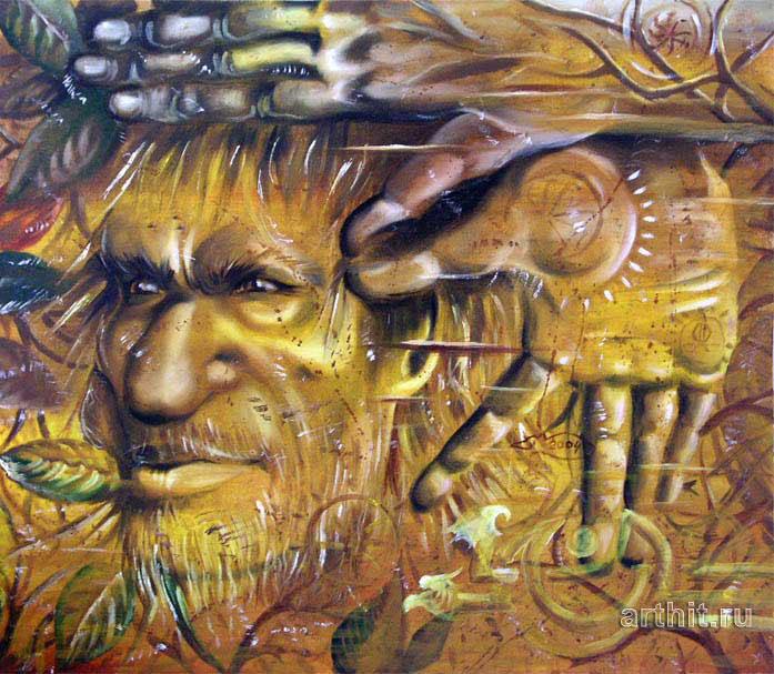 ''Леший''.  Чеботарев Александр. Продажа картин, предметов декоративно-прикладного искусства