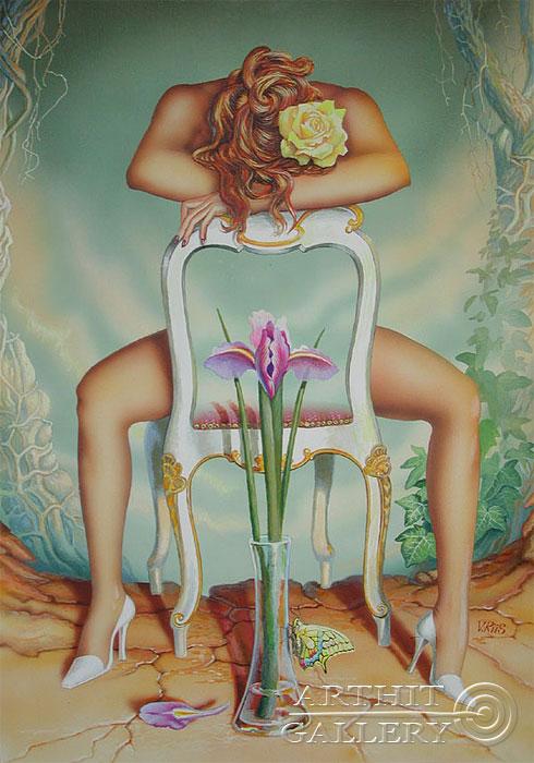 ''Без названия''.  Риис Виктор. Продажа картин, предметов декоративно-прикладного искусства
