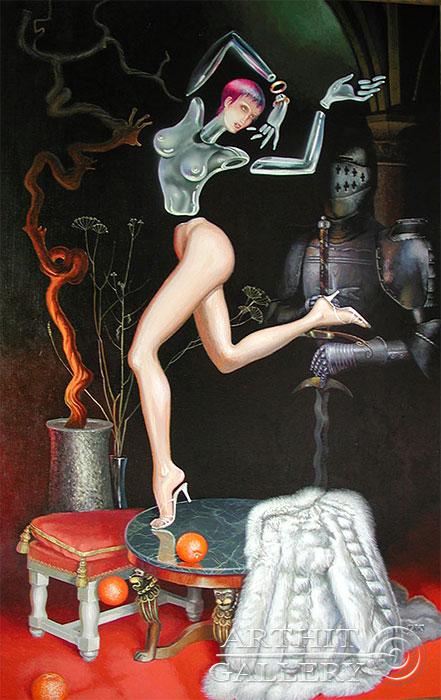 ''Хрупкая девочка''.  Риис Виктор. Продажа картин, предметов декоративно-прикладного искусства