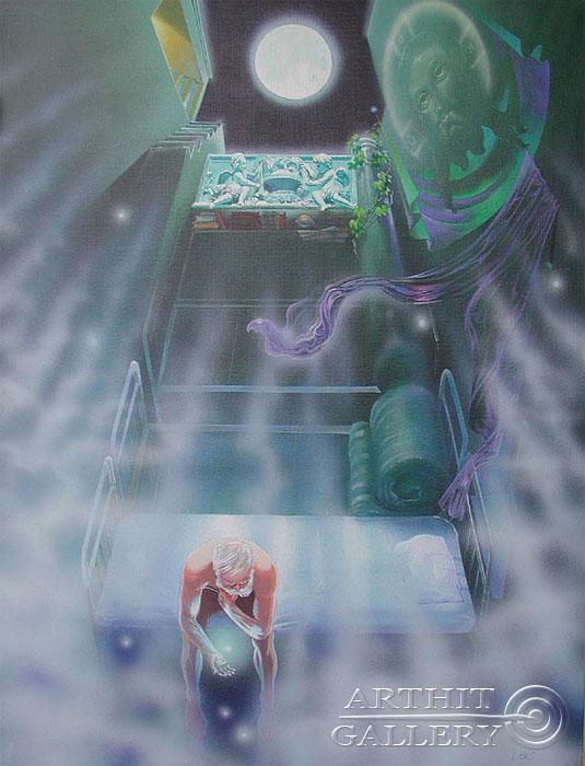 ''Полнолуние''.  Риис Виктор. Продажа картин, предметов декоративно-прикладного искусства