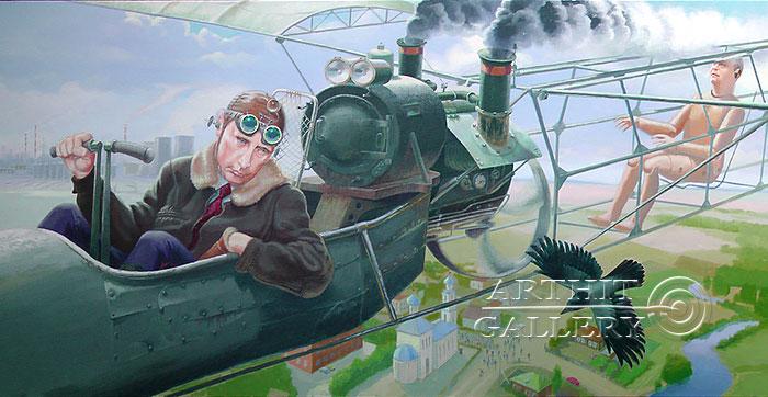 ''Гимн ржавой авиации''.  Риис Виктор. Продажа картин, предметов декоративно-прикладного искусства