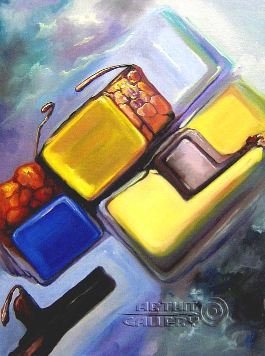 ''Тропический коктейль''.  Катющик Виктор. Продажа картин, предметов декоративно-прикладного искусства