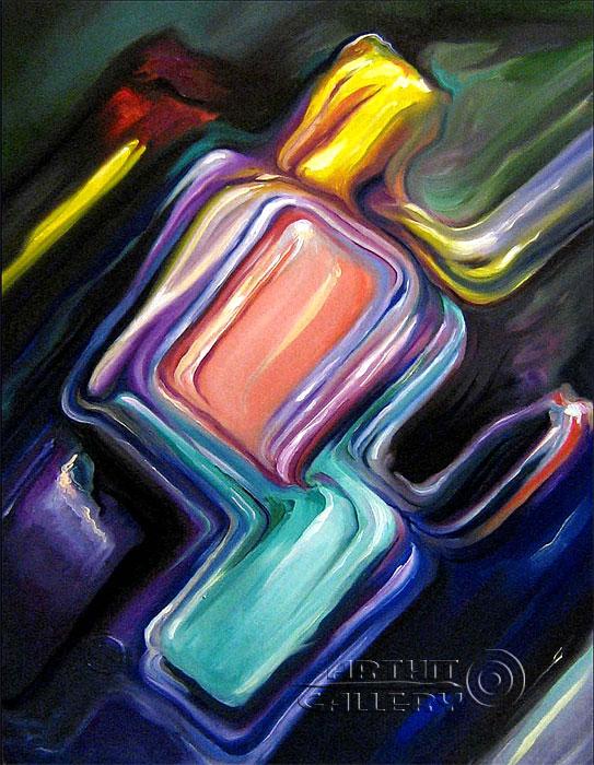 ''Цветной лёд''.  Катющик Виктор. Продажа картин, предметов декоративно-прикладного искусства