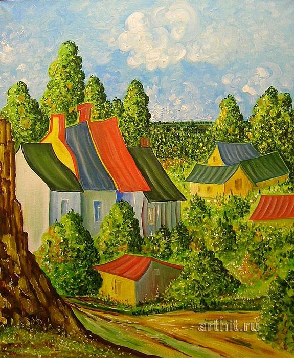 'Rural landscape'. Lomovtzev Konstantin