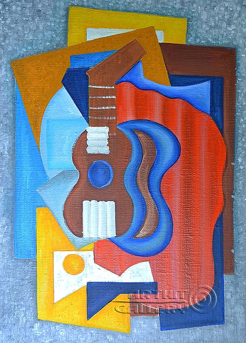 'Still life with guitar'. Lomovtzev Konstantin
