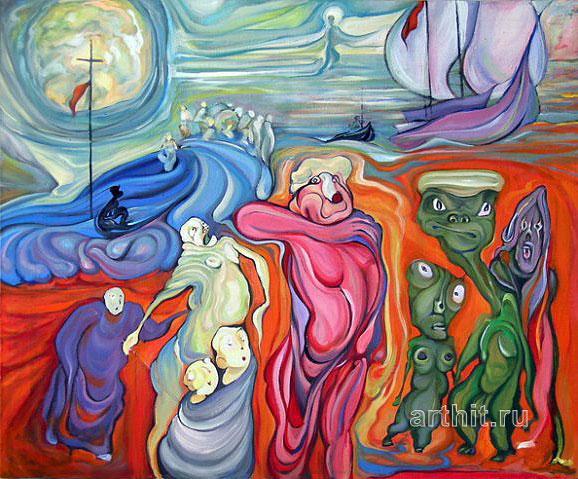 ''Открытие Америки''.  Семушин Александр. Продажа картин, предметов декоративно-прикладного искусства