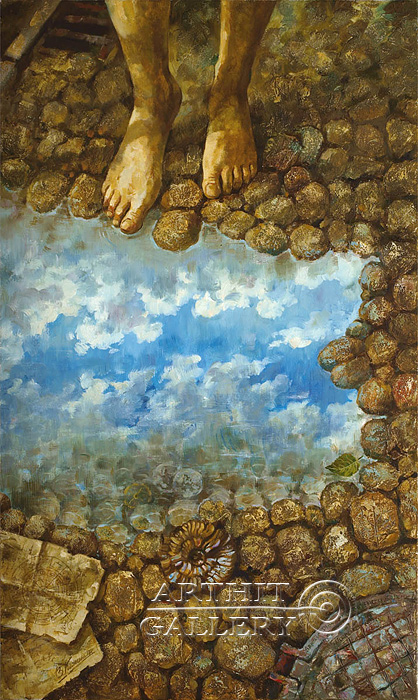'Barefoot to the clouds'. Kalinin Vladimir