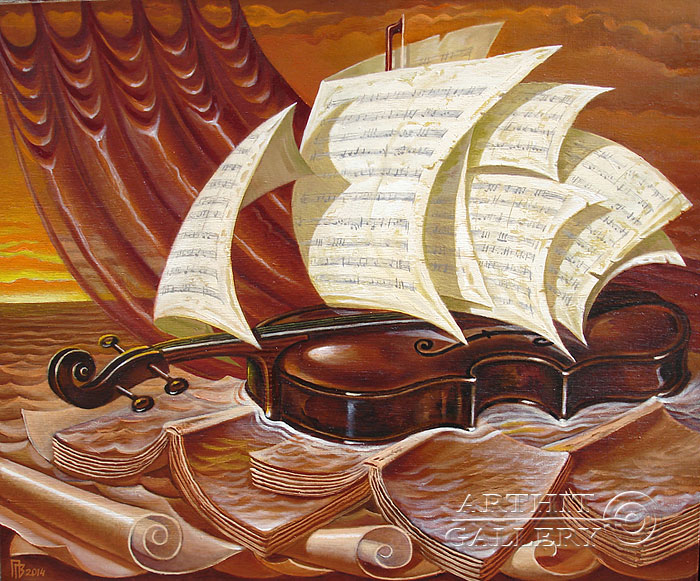 'Violin sea'. Privedentsev Gennady