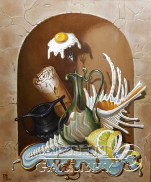 ''Насюрморт `Яичный цветок`''.  Приведенцев Геннадий. Продажа картин, предметов декоративно-прикладного искусства