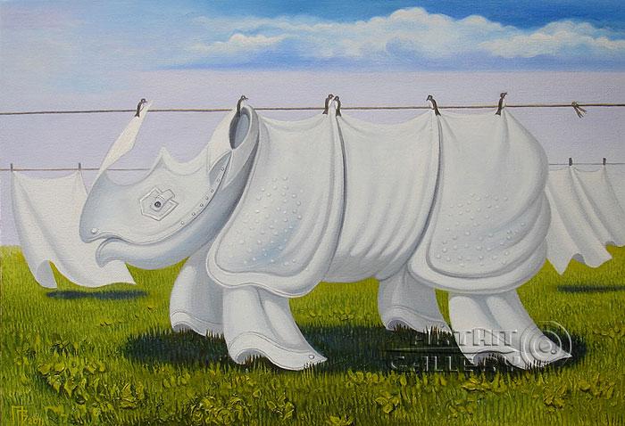 ''Белье носорога''.  Приведенцев Геннадий. Продажа картин, предметов декоративно-прикладного искусства
