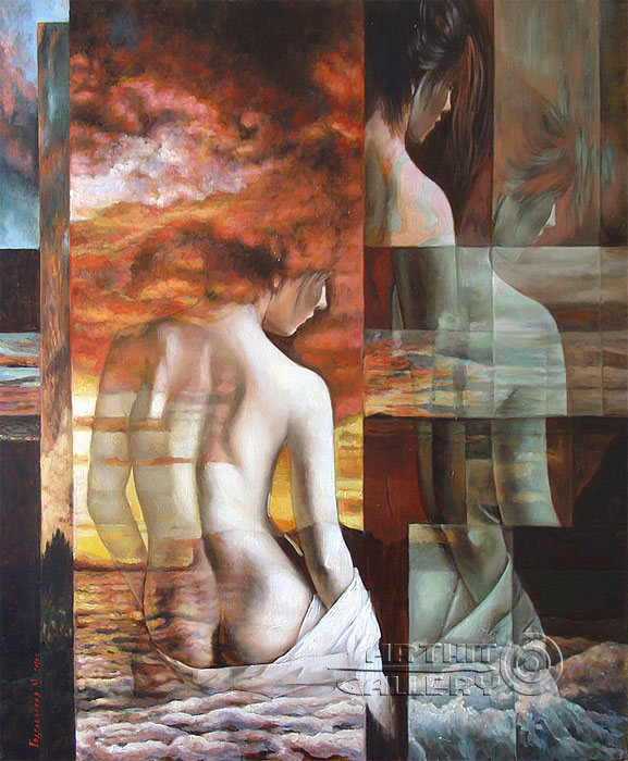''The Birth of Venus''. Podgaevskaya Marina. Oil paintings. Original art for sale