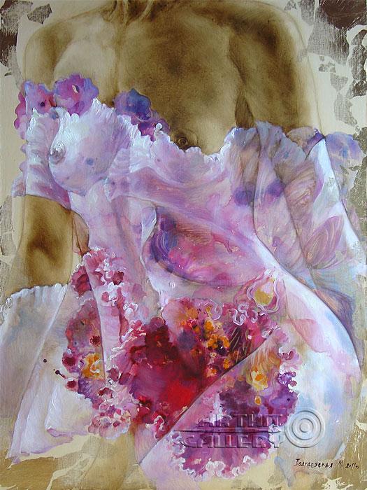''Розовая орхидея №3''.  Подгаевская Марина. Продажа картин, предметов декоративно-прикладного искусства
