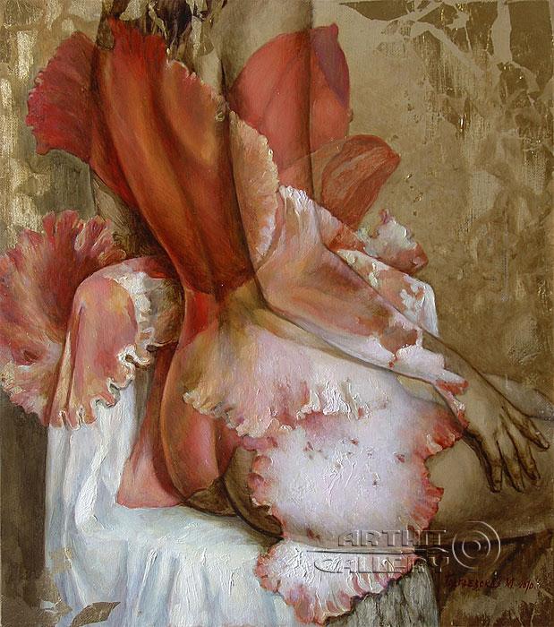 ''Красная орхидея''.  Подгаевская Марина. Продажа картин, предметов декоративно-прикладного искусства