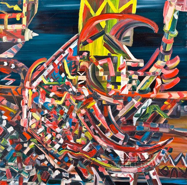 ''Футуристический петух''.  Гуральник Антон. Продажа картин, предметов декоративно-прикладного искусства