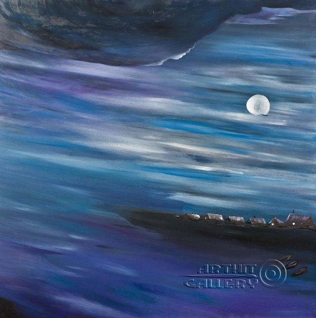 ''Тихая ночь''.  Гуральник Антон. Продажа картин, предметов декоративно-прикладного искусства