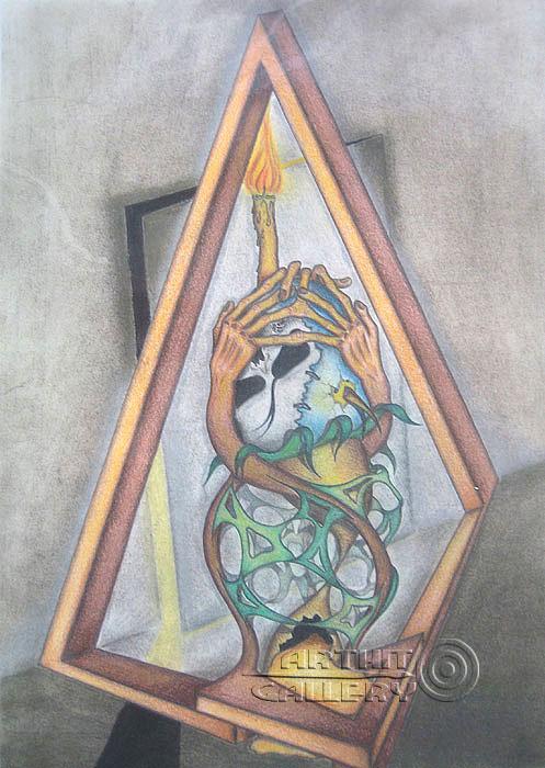 ''Жизнь и смерть в невозможном угольнике''.  Тенигин Артем. Продажа картин, предметов декоративно-прикладного искусства