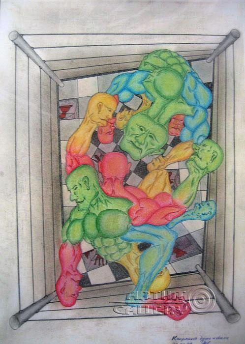 ''Конфликт души и тела''.  Тенигин Артем. Продажа картин, предметов декоративно-прикладного искусства