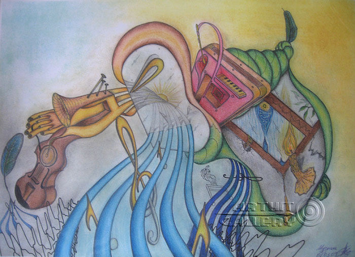''Музыка''.  Тенигин Артем. Продажа картин, предметов декоративно-прикладного искусства