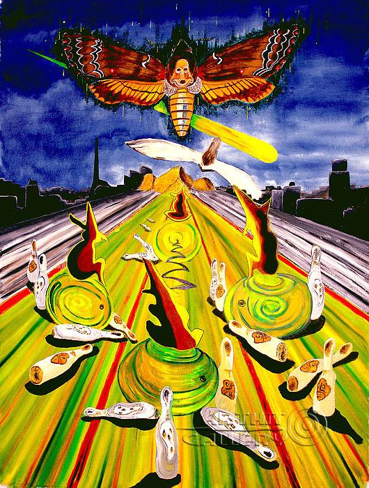 ''Боулинг или прожигающим жизнь''.  Белов Антон. Продажа картин, предметов декоративно-прикладного искусства