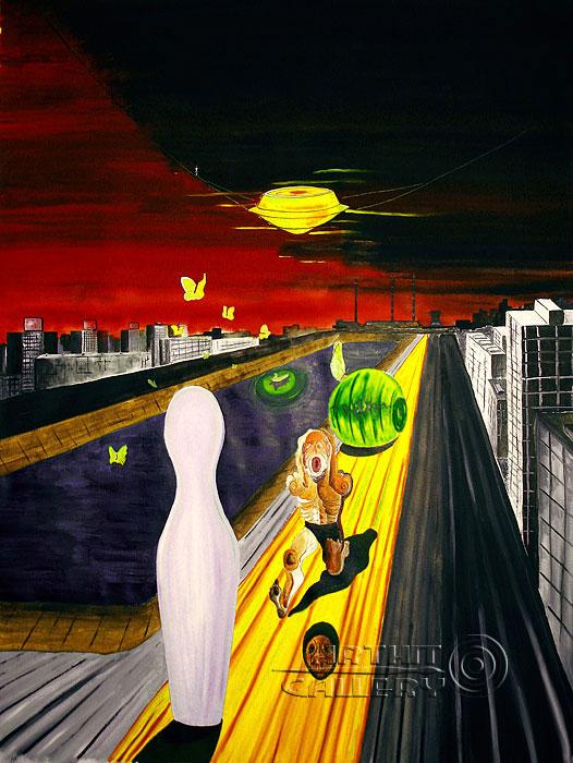 ''Мой город''.  Белов Антон. Продажа картин, предметов декоративно-прикладного искусства