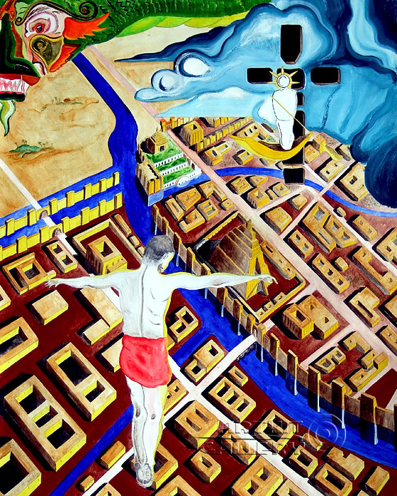 ''Я, Дракон и Бог в Вавилоне''.  Белов Антон. Продажа картин, предметов декоративно-прикладного искусства