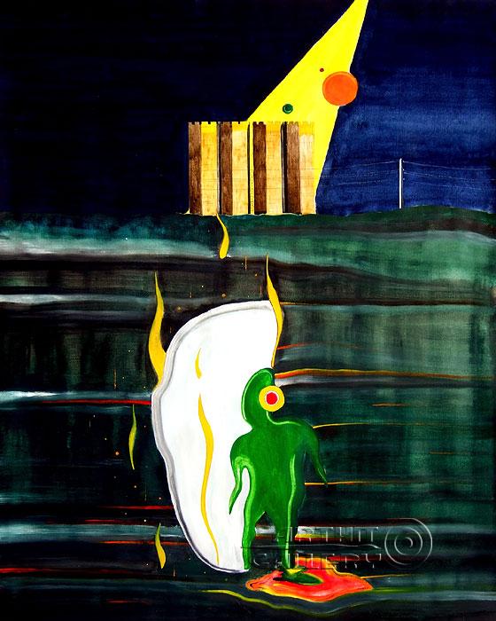 ''НЛО на ТАТэлектромаше''.  Белов Антон. Продажа картин, предметов декоративно-прикладного искусства