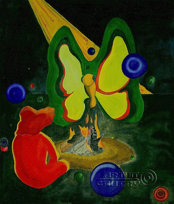 ''Бабочка''.  Белов Антон. Продажа картин, предметов декоративно-прикладного искусства