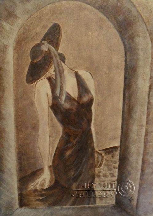 ''Девушка в окне''.  Анашкина Светлана. Продажа картин, предметов декоративно-прикладного искусства