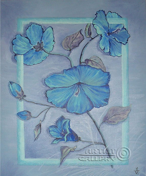''Голубой вьюнок''.  Анашкина Светлана. Продажа картин, предметов декоративно-прикладного искусства