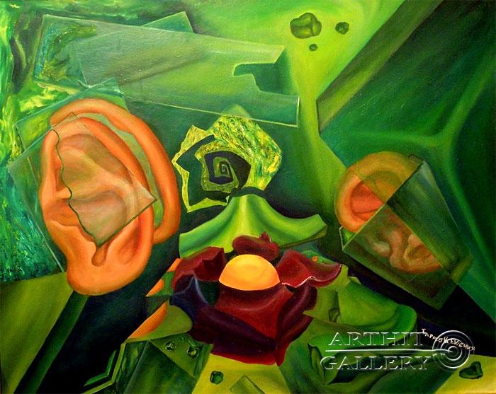 ''Манящий звон стекла''.  Дегтярева (Тарасова) Евгения. Продажа картин, предметов декоративно-прикладного искусства
