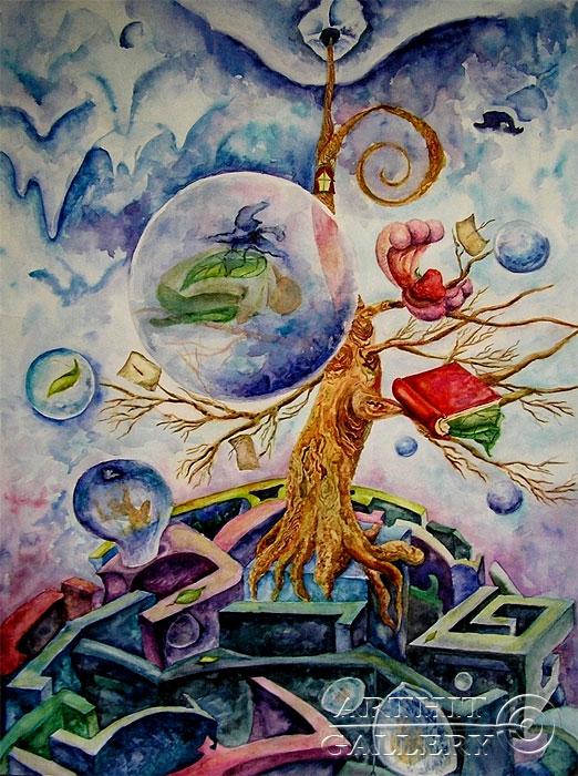 ''Переселение душ''.  Дегтярева (Тарасова) Евгения. Продажа картин, предметов декоративно-прикладного искусства