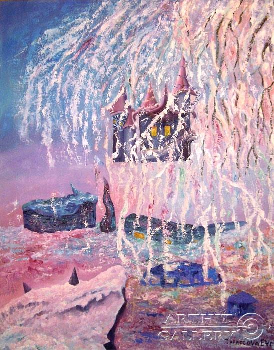 ''Заснеженные замки''.  Дегтярева (Тарасова) Евгения. Продажа картин, предметов декоративно-прикладного искусства
