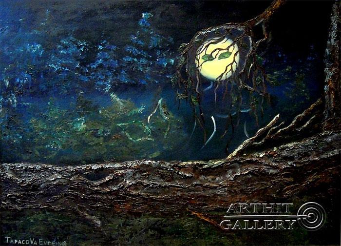 ''Лунный призрак''.  Дегтярева (Тарасова) Евгения. Продажа картин, предметов декоративно-прикладного искусства