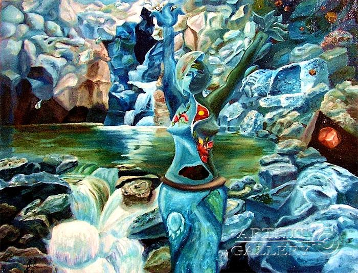 ''Вода и камень''.  Дегтярева (Тарасова) Евгения. Продажа картин, предметов декоративно-прикладного искусства