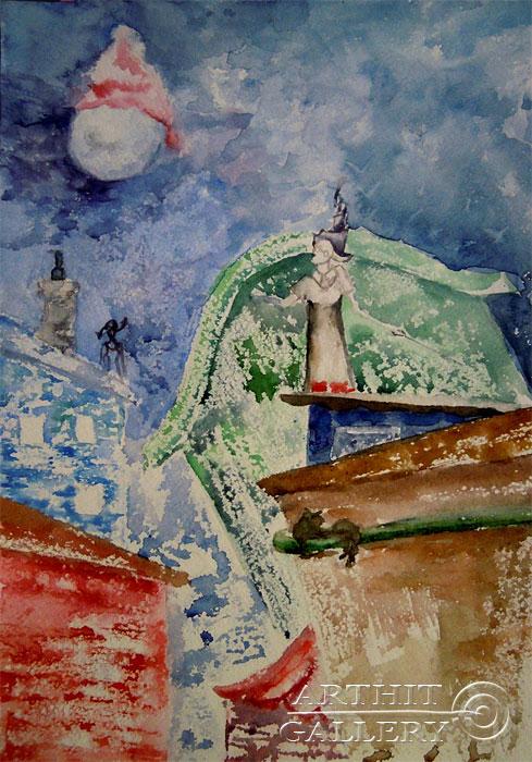 ''Лунатики''.  Дегтярева (Тарасова) Евгения. Продажа картин, предметов декоративно-прикладного искусства