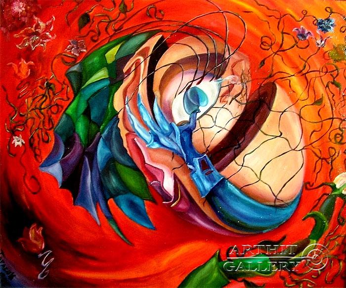 ''Нежданное счастье''.  Дегтярева (Тарасова) Евгения. Продажа картин, предметов декоративно-прикладного искусства