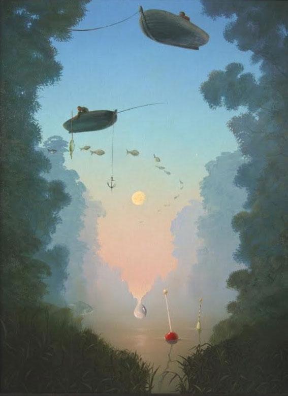 'Lunar morning on the river'. Bregeda Victor
