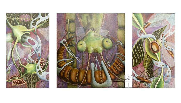 ''Жизнь насекомых''.  Кривогорницын Андрей. Продажа картин, предметов декоративно-прикладного искусства