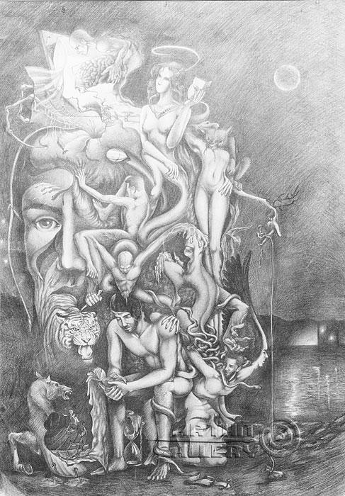 ''Ночь''.  Саргсян Артур. Продажа картин, предметов декоративно-прикладного искусства