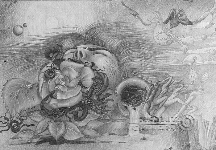 ''Роза''.  Саргсян Артур. Продажа картин, предметов декоративно-прикладного искусства