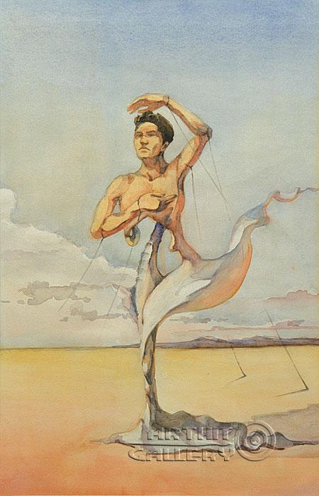''Человек парус''.  Саргсян Артур. Продажа картин, предметов декоративно-прикладного искусства