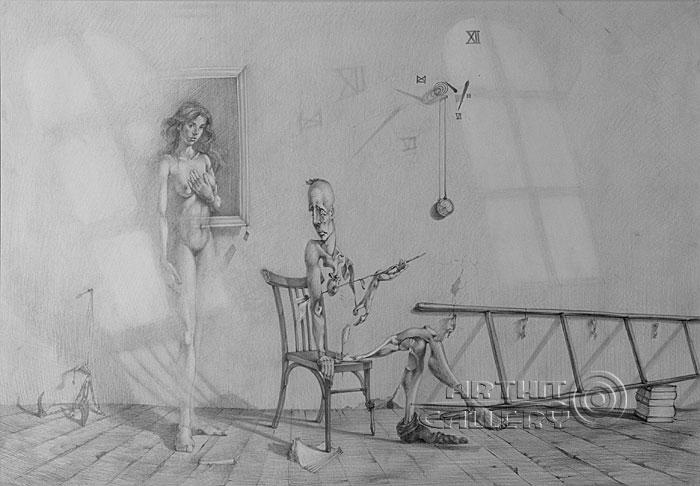 ''Лестница''.  Саргсян Артур. Продажа картин, предметов декоративно-прикладного искусства