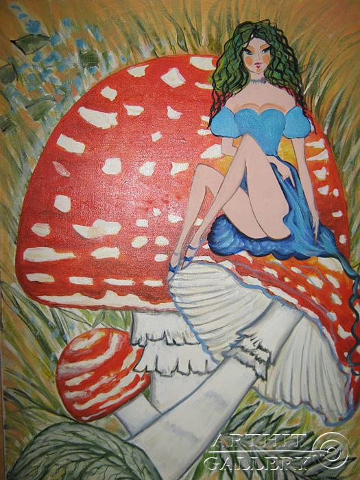 ''Грибная фея''.  Мариз Марина. Продажа картин, предметов декоративно-прикладного искусства