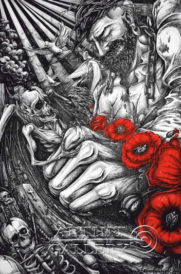 ''Победа над демоном''.  Гржибовский Глеб. Продажа картин, предметов декоративно-прикладного искусства